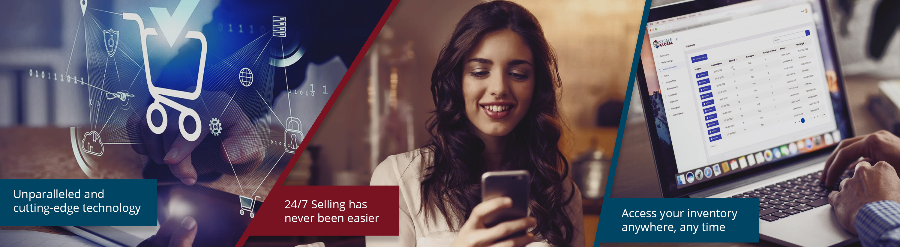 Unparalleled technology - 24/7 selling has never been easier - Access your inventory from anywhere